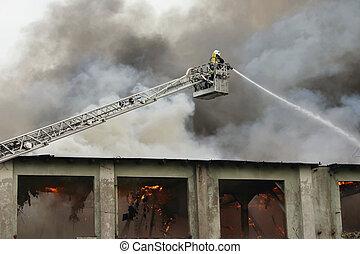devoir, pompier