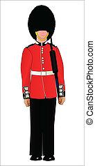 devoir, soldat, garde, britannique