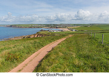 Devon coast path to Thurlestone uk