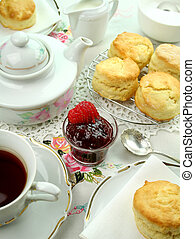 Devonshire Tea And Scones - Devonshire tea and fresh baked...