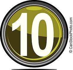 dez, logotipo, desenho, modelo, vetorial