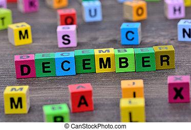 dezembro, palavra, tabela