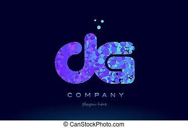 dg d g bubble circle dots pink blue alphabet letter logo...