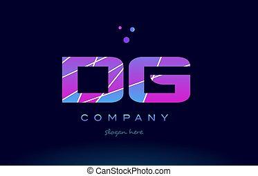 dg d g colored blue pink purple alphabet letter logo icon...