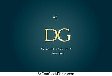 dg d g gold golden luxury alphabet letter logo icon template...