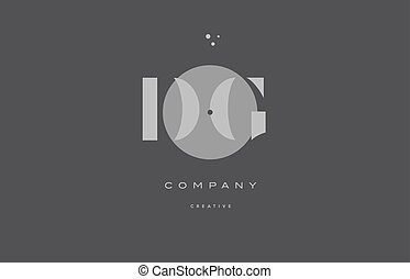 dg d g grey modern alphabet company letter logo icon - dg d...