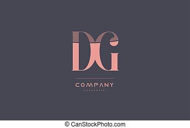 dg d g pink vintage retro letter company logo icon design -...