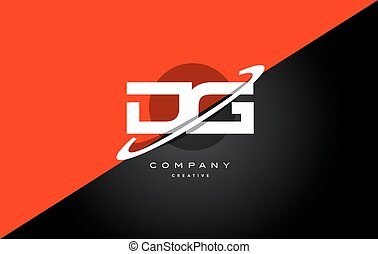 dg d g red black technology alphabet company letter logo...