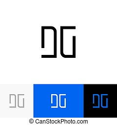 DG vector monogram. Logo, icon, symbol, sign from letters d...