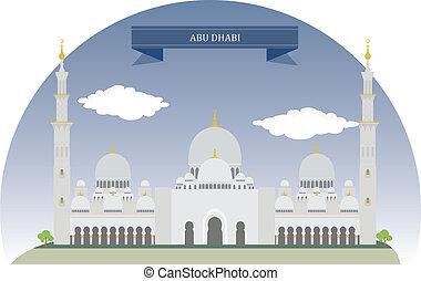 dhabi, árabe, unidas, emirates, abu