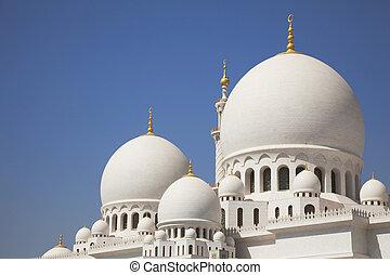 dhabi, magnífico, uae, abu, mezquita