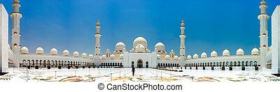 dhabi, mezquita, abu, magnífico
