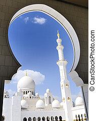 dhabi, zayed, moschea, abu, heikh