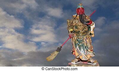 Dharmapala (protector of dharma), Buddhist temple in...