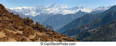 Dhaulagiri himal from Balangra Lagn - Lower Dolpo -...
