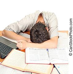 diák, alvás