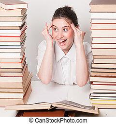 diák, fejfájás