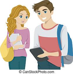 diák, tabletta