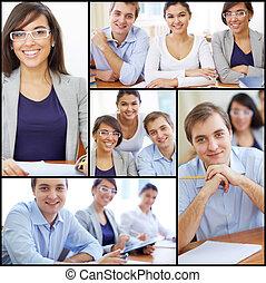 diákok, boldog