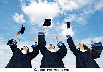 diákok, diplomás
