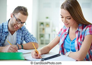 diákok, elfoglalt
