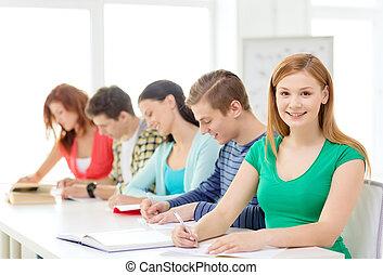 diákok, iskolakönyvek, iskola előjegyez