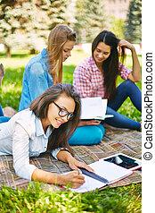 diákok, után, tanulmányok