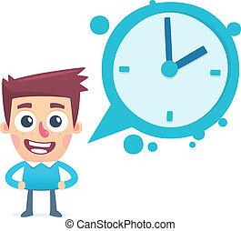 diálogo, aproximadamente, tempo