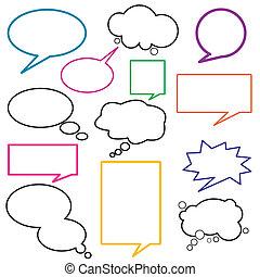 diálogo, globo, mensaje