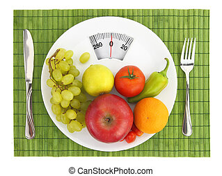 diæt, og, ernæring