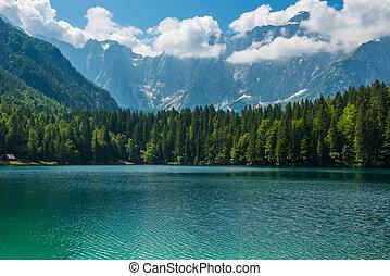 Di Laghi Fusine . Dolomites . Italy - alpine lake Di Laghi...
