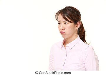 di mezza età, donna giapponese, umore difettoso