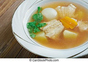 di, pesce, zuppa