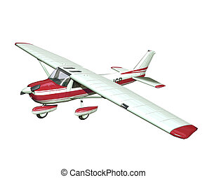 DI-TR-001 - small airplane on white background