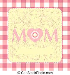 dia, 8, feliz, cartão, template., mãe, eps