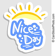 dia, agradável