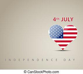 dia, cartão, independência