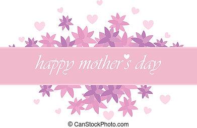 dia, cartão, mãe