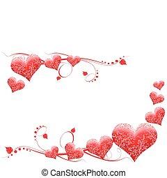 dia, cartão, valentine