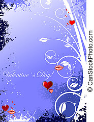 dia, convite, card., valentineçs, cartão, saudação, vetorial, illustration.