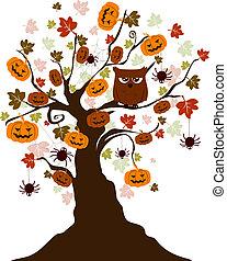 dia das bruxas, árvore