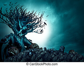 dia das bruxas, arrepiado, fundo