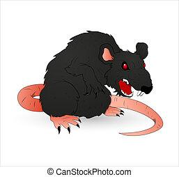 dia das bruxas, arrepiado, rato