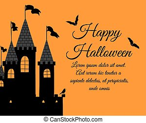 dia das bruxas, cartão cumprimento