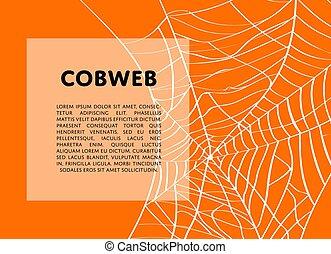 dia das bruxas, cobweb, fundo, arrepiado