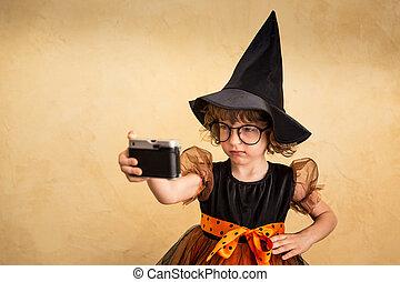 dia das bruxas, criança