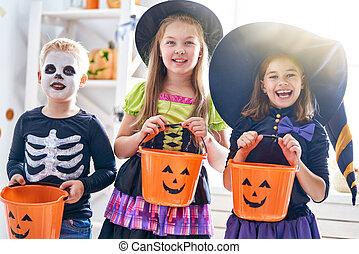dia das bruxas, crianças