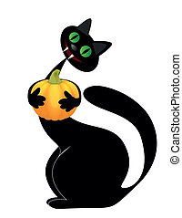 dia das bruxas, gato preto