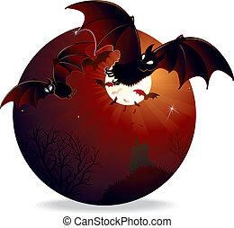 dia das bruxas, ilustração