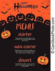 dia das bruxas, menu, desenho